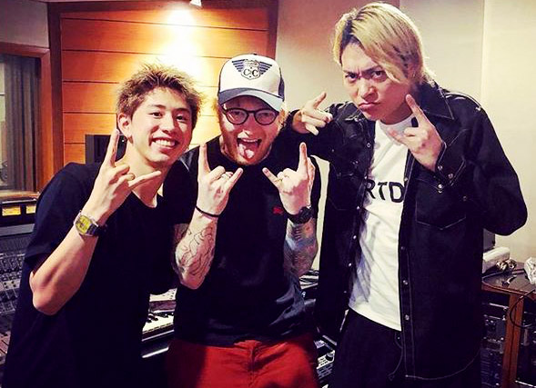 One OK Rock dan Ed Sheeran . Foto-Ig.@10969taka