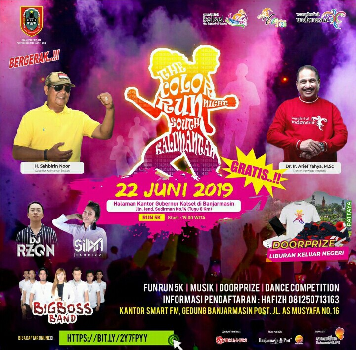 Color Run Night South Kalimantan Berhadiah Liburan ke Luar Negeri