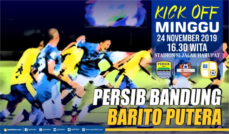 Link Live Streaming Persib vs Barito, Djanur Optimis Curi Poin