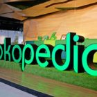 Display logo Tokopedia. Foto-Tokopedia