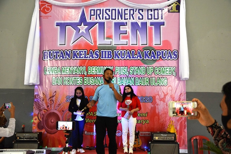 Asah Bakat, Warga Binaan Kapuas Ikuti Prisoners Got Talent