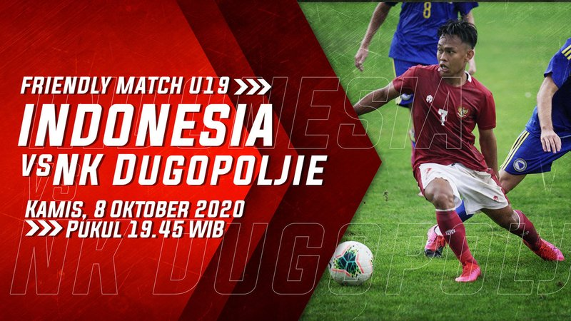 Link Live Streaming Timnas U-19 Indonesia vs NK Dugopoljie di Mola TV