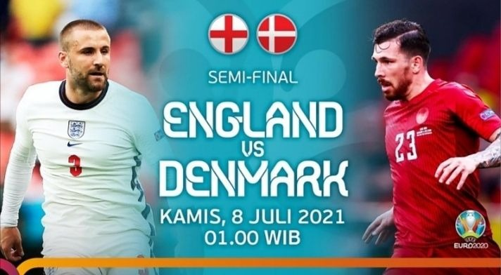 Link Live Streaming Inggris vs Denmark, Membendung Ambisi The Three Lions